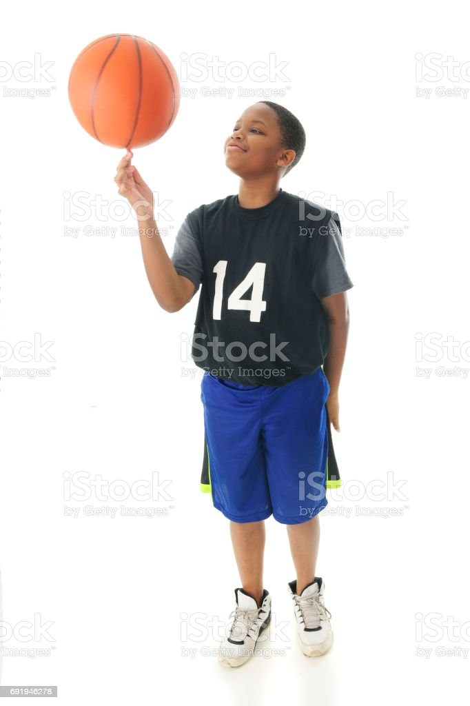 Spinning Basketball stock photo
