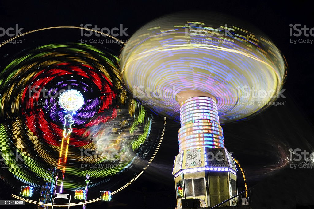 spinning carousel stock photo