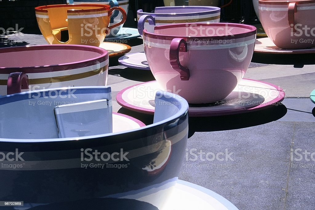 Spinning Cups stock photo
