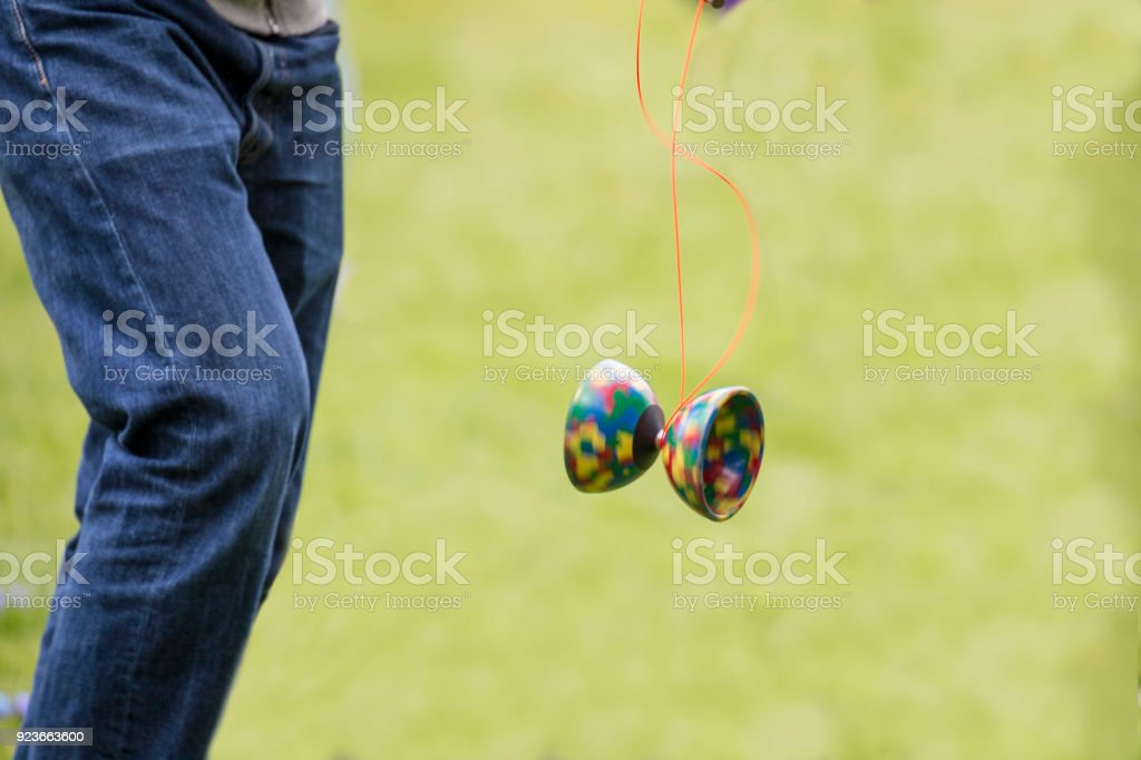 Spinning Diabolo showing some movement stock photo