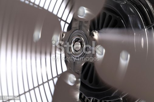 istock Spinning Electric Fan Blades 178950434