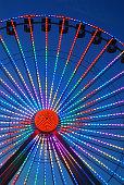 Wildwood, NJ, USA August 23, 2013 A Ferris Wheel lights up the night on the Boardwalk in Wildwood, New Jersey