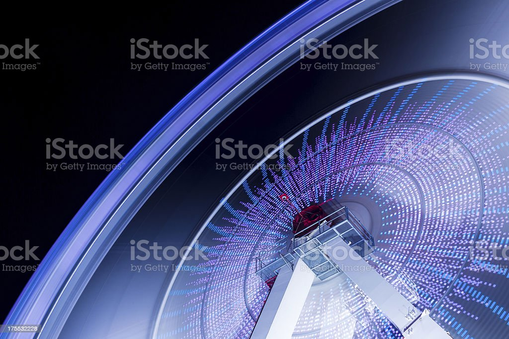 Spinning fun with a ferris wheel royalty-free stock photo