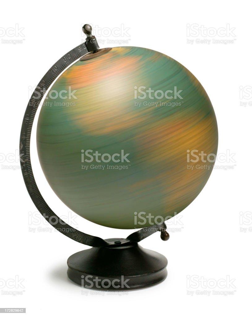 Spinning Globe royalty-free stock photo