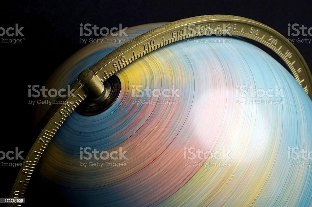 Spinning Welt - Lizenzfrei Abstrakt Stock-Foto