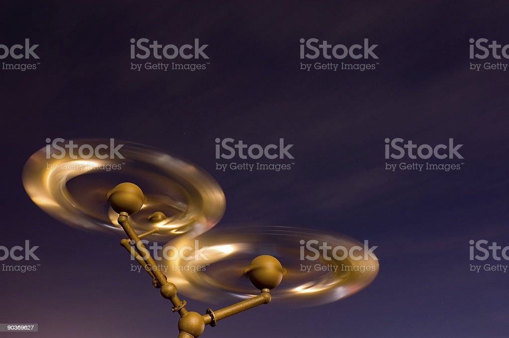 Spinning into Space royalty-free stock photo