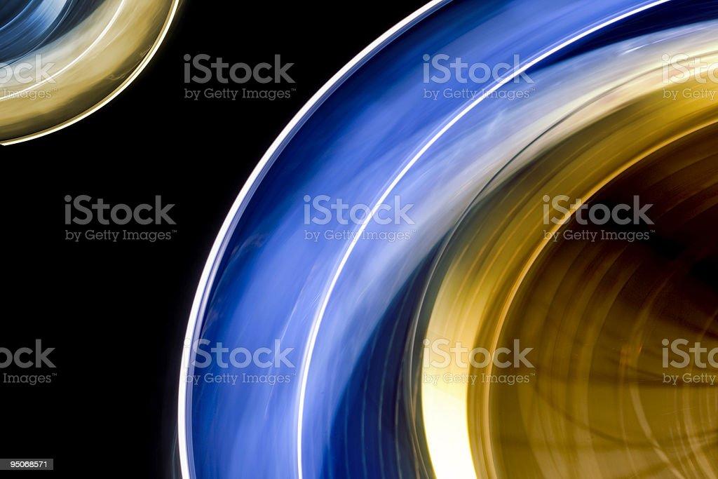 spinning lights stock photo