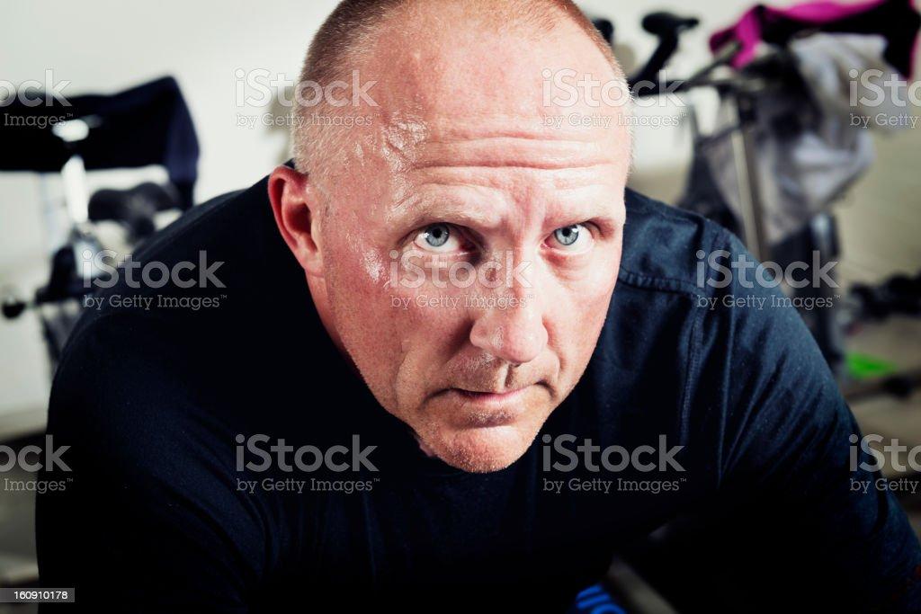 Spinning Man stock photo