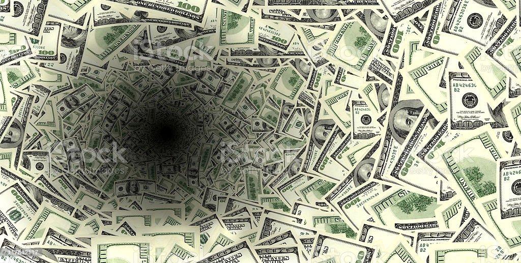 spinning money vortex royalty-free stock photo