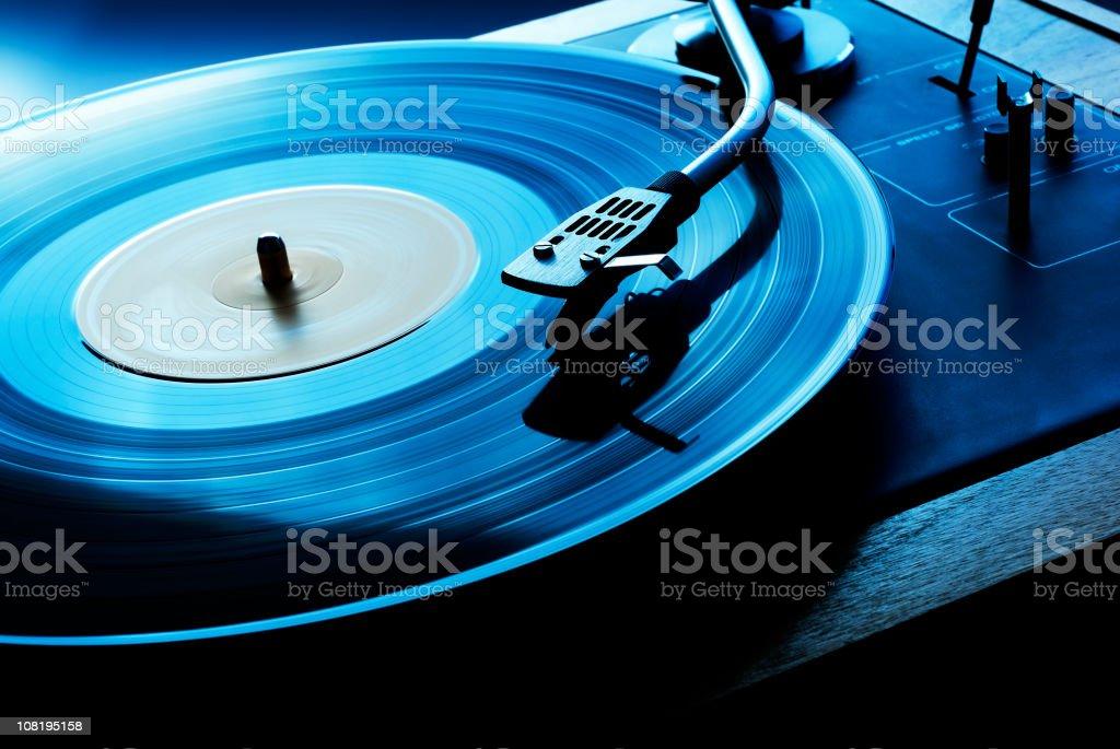 LP Spinning-Plattenspieler, getönt auf – Foto