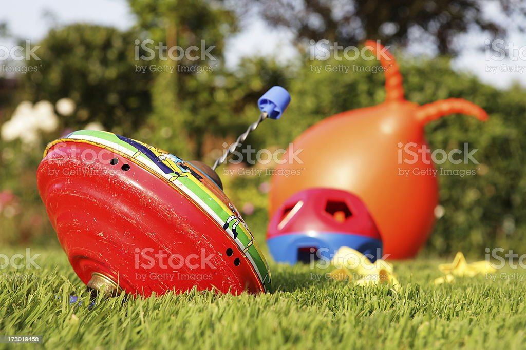Spinning Top Toy stock photo
