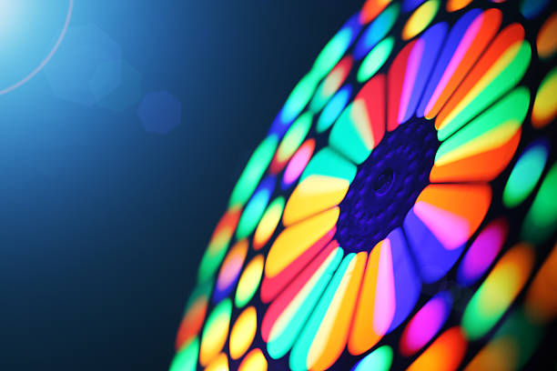 Spinning wheel blur Illuminated colorful spinning wheel, motion blur background. wheel stock pictures, royalty-free photos & images