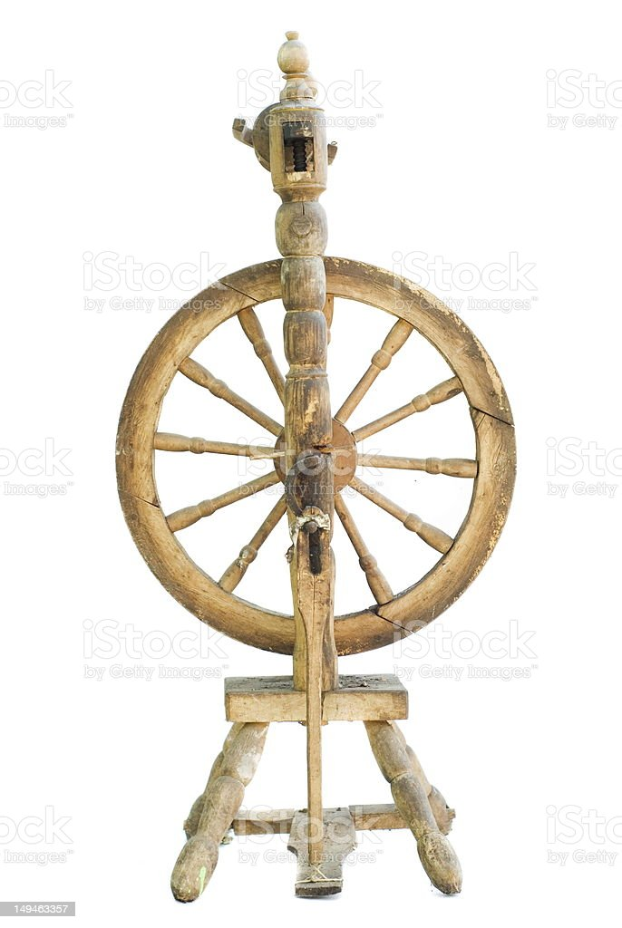 spinning wheel stock photo