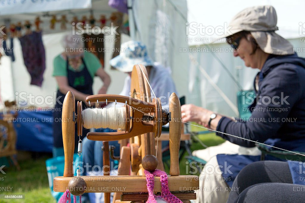 Spinning Wool stock photo