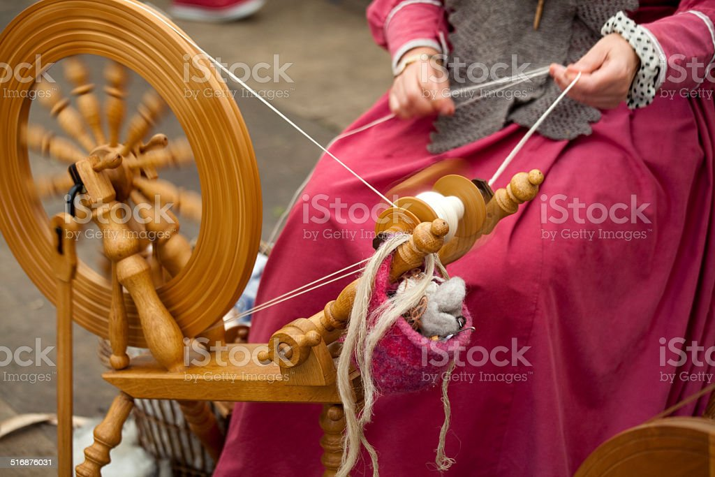 Spinning Yarn stock photo