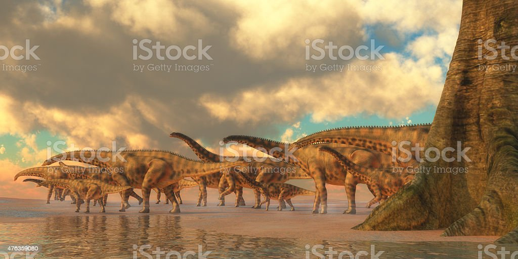 Spinophorosaurus Dinosaur Travel stock photo