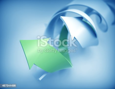 istock Spiral arrows concept background 467544498