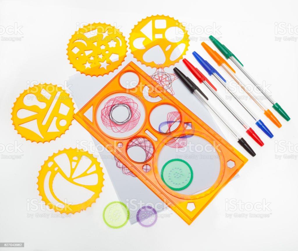 Spiral Art Set stock photo