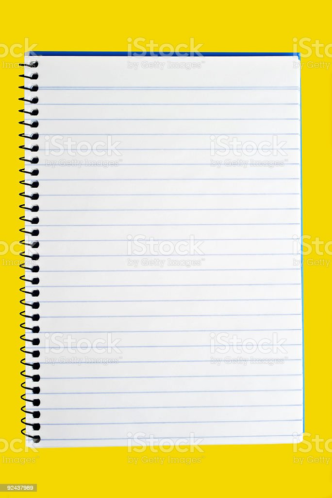 Spiral Back Notebook to Write On royalty-free stock photo