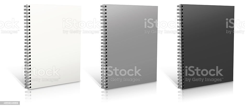 Spiral binder stock photo