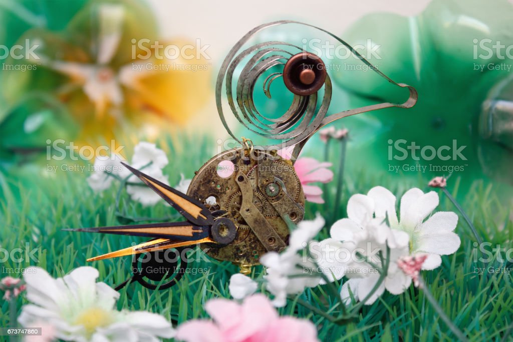 Ein Spiral Vogel kann nicht fliegen royalty-free stock photo