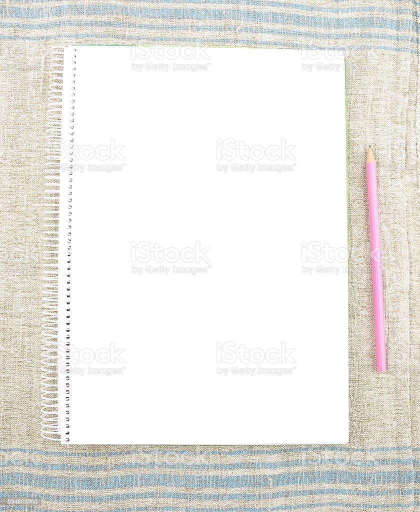 Spiral book stock photo