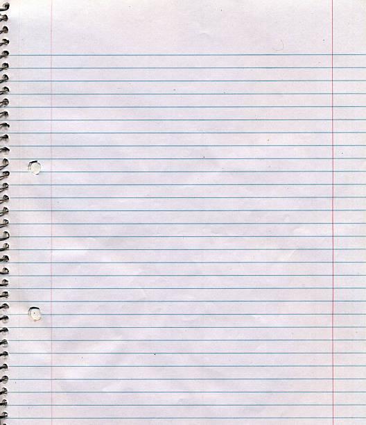 spiral bound notebook page background - linjerat papper bakgrund bildbanksfoton och bilder