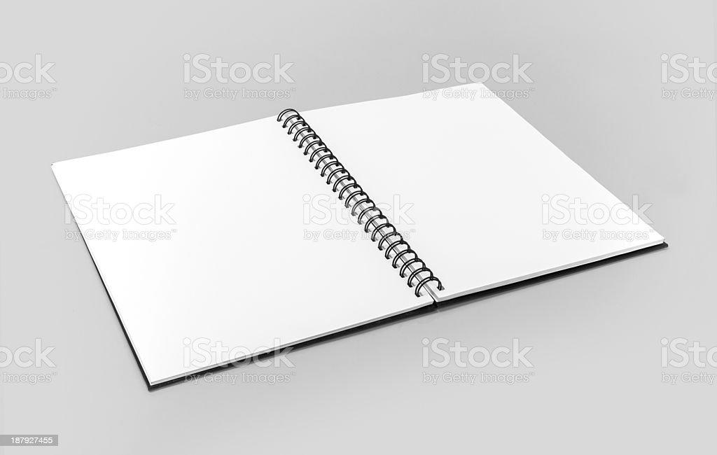 Spiral Bound Notebook stock photo