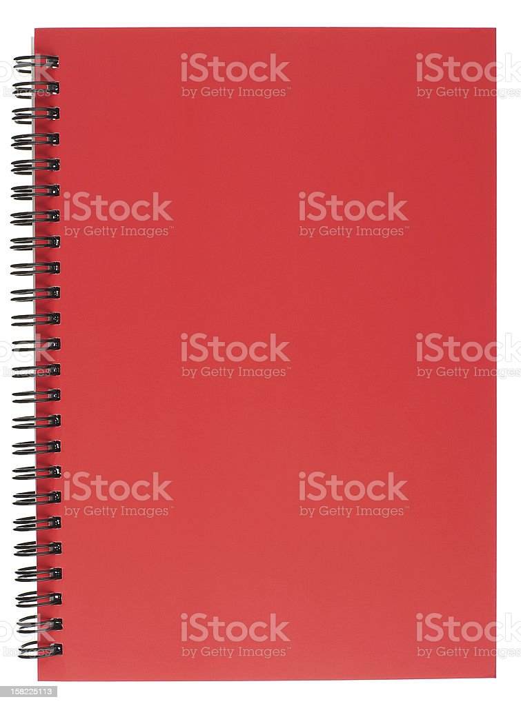Spiral Bound Notepad with Red Cover stock photo