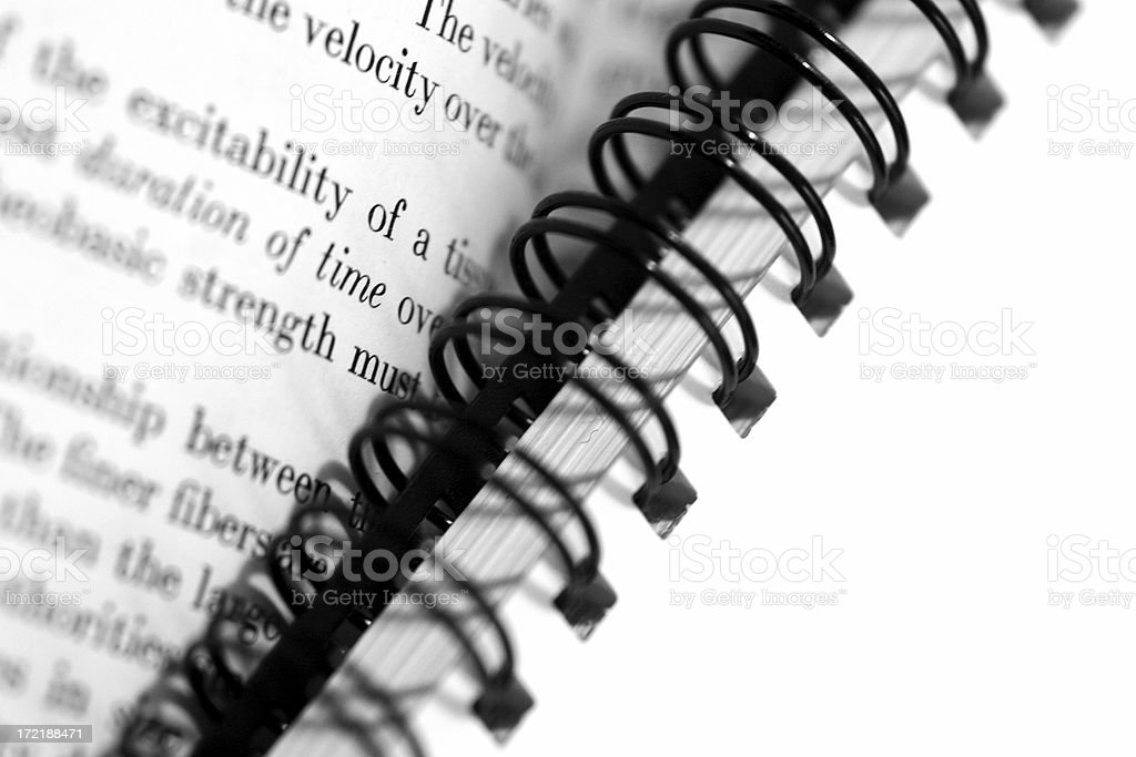 Spiral bound. royalty-free stock photo
