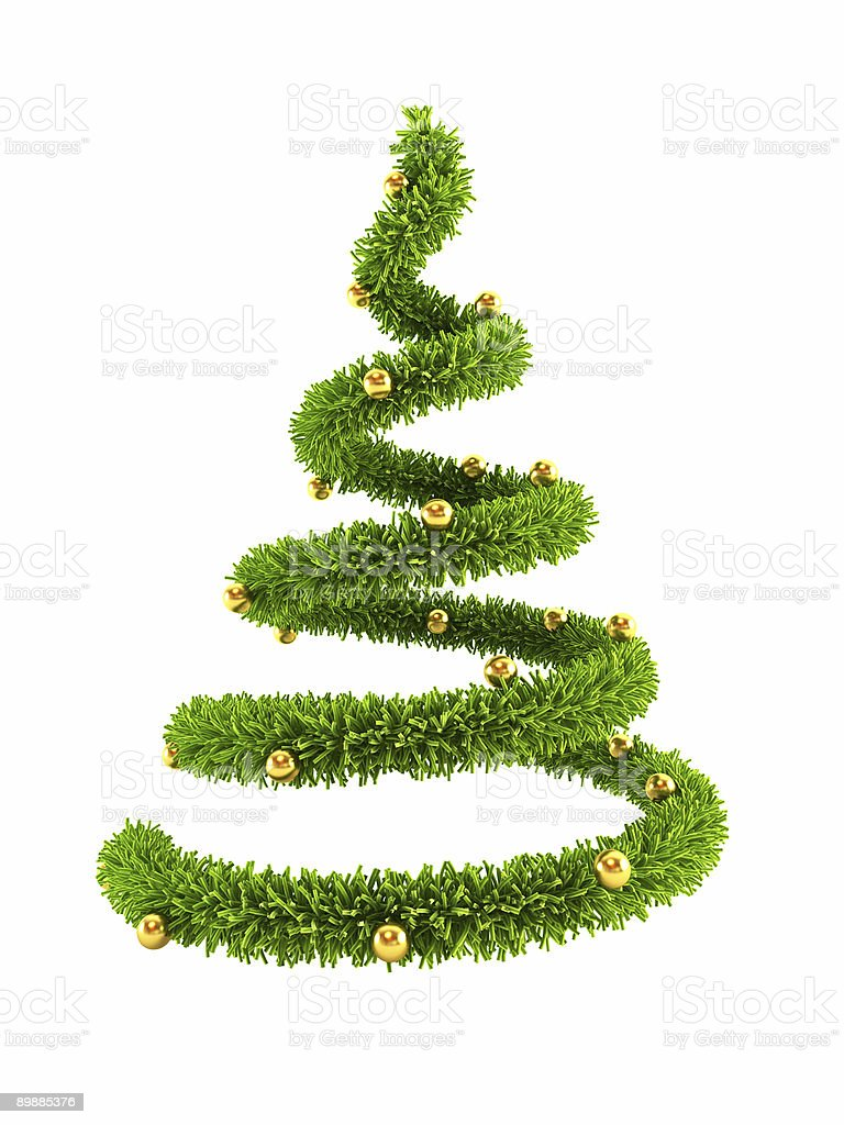Spiral Christmas tree for festivities royalty-free stock photo