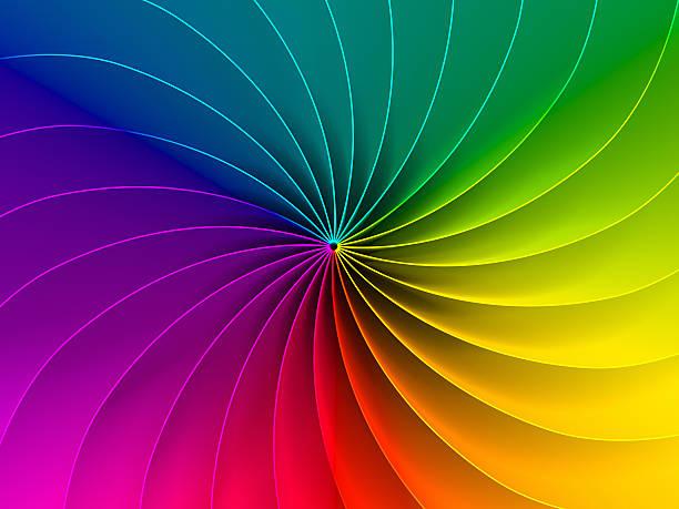 espectro de fondo colorido - hélice forma geométrica fotografías e imágenes de stock