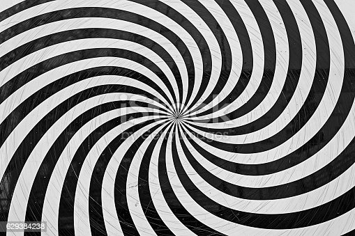Spiral white and black wall, symbol