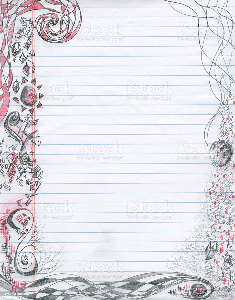 Spiral doodles Notepaper (XXL) stock photo