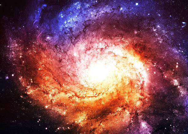 Spiral Galaxy - Elements of this Image Furnished by NASA stock photo