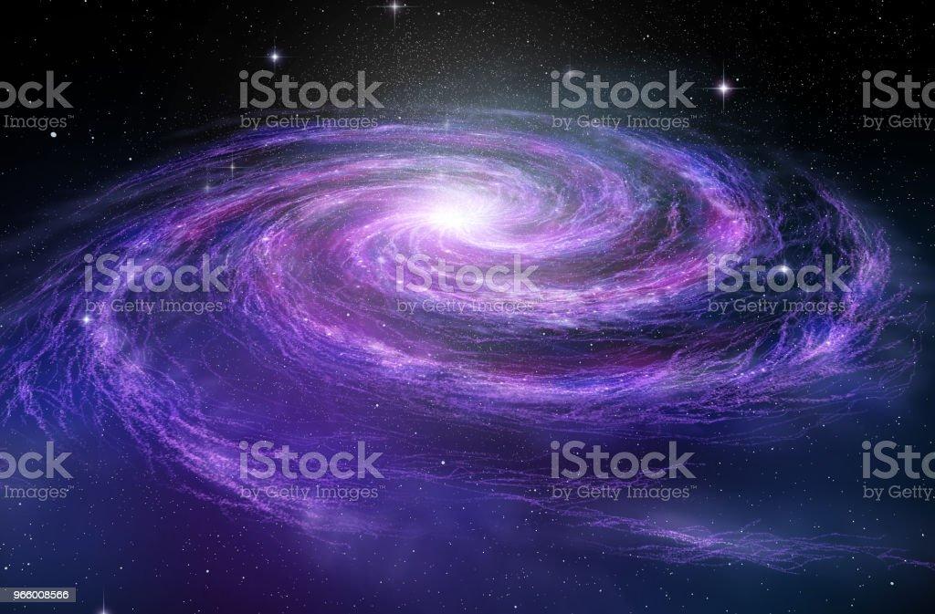 Spiraalvormig sterrenstelsel in diepe spcae, 3D illustratie - Royalty-free Abstract Stockfoto