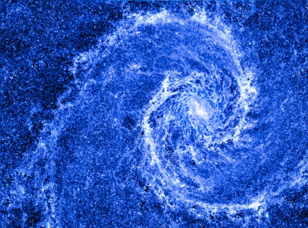 spiral galaxy in the universe. space swirl background. blue perfect galaxy like geometric golden ratio. concept of harmony and fibonacci sequence in nature. - golden ratio zdjęcia i obrazy z banku zdjęć