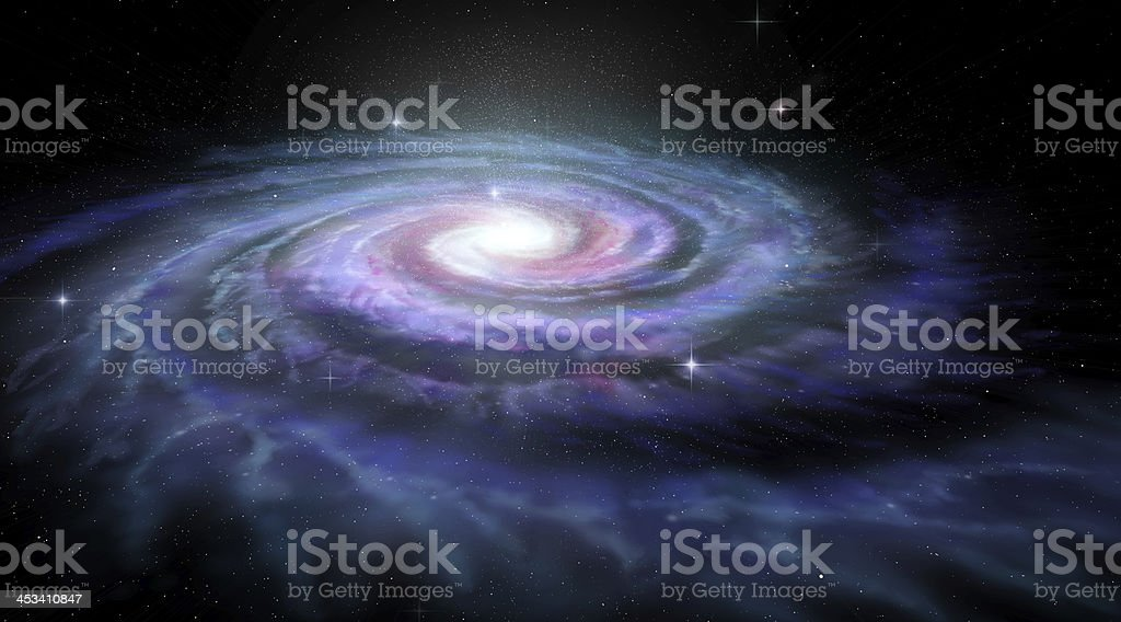 Spiral Galaxy Milky Way stock photo