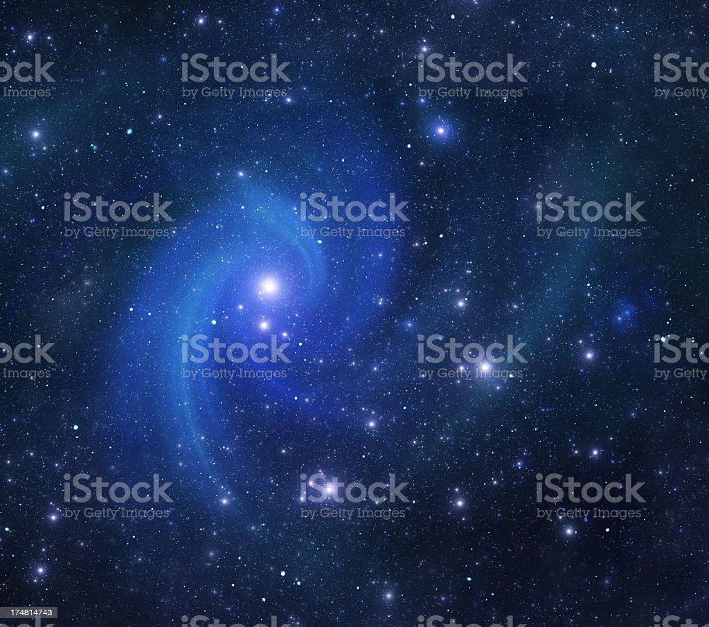Spiral galaxy royalty-free stock photo