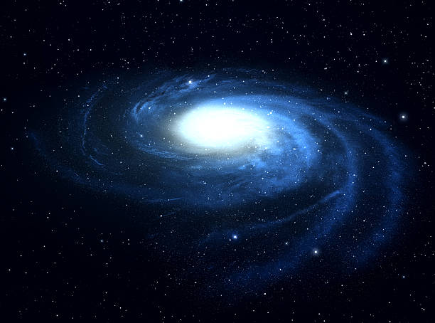 Spiral galaxy. stock photo