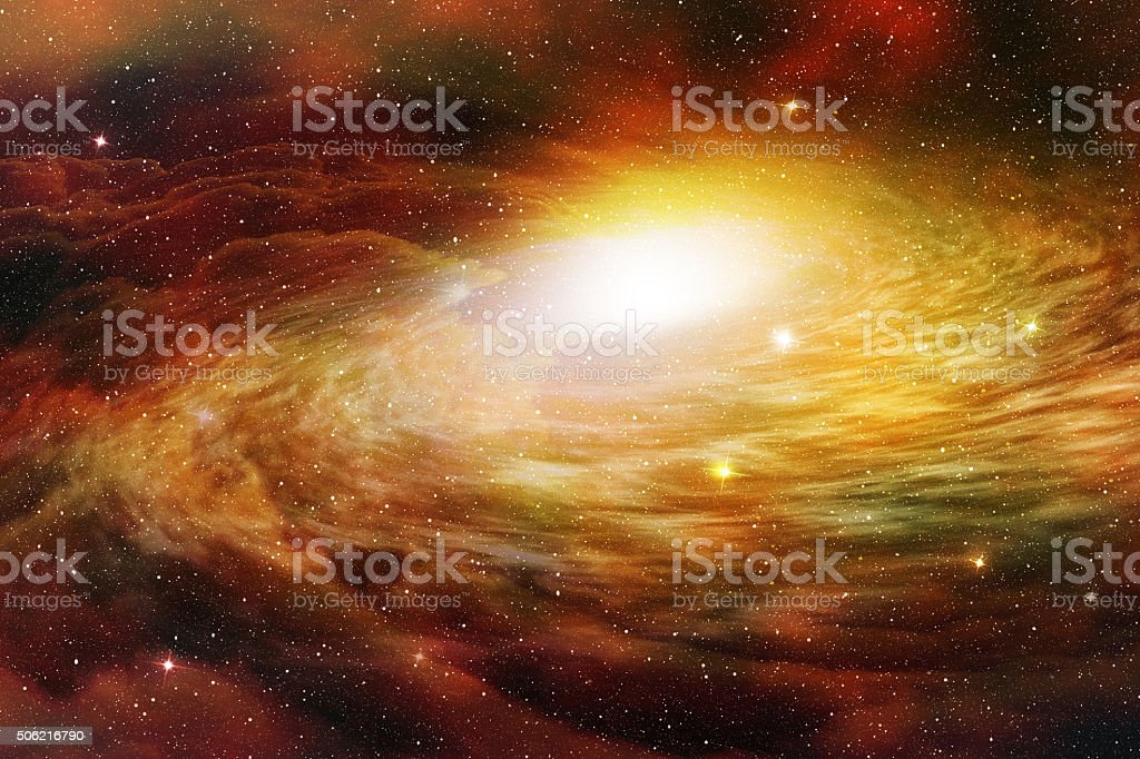 spiral galaxy stock photo
