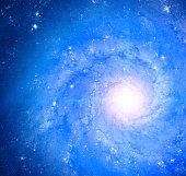 Milky Way. Mosaic of several photos through a telescope.
