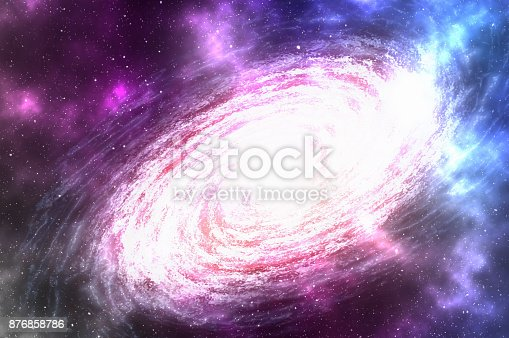 istock Spiral galaxy with stars and nebula somewhere in deep space 876858786