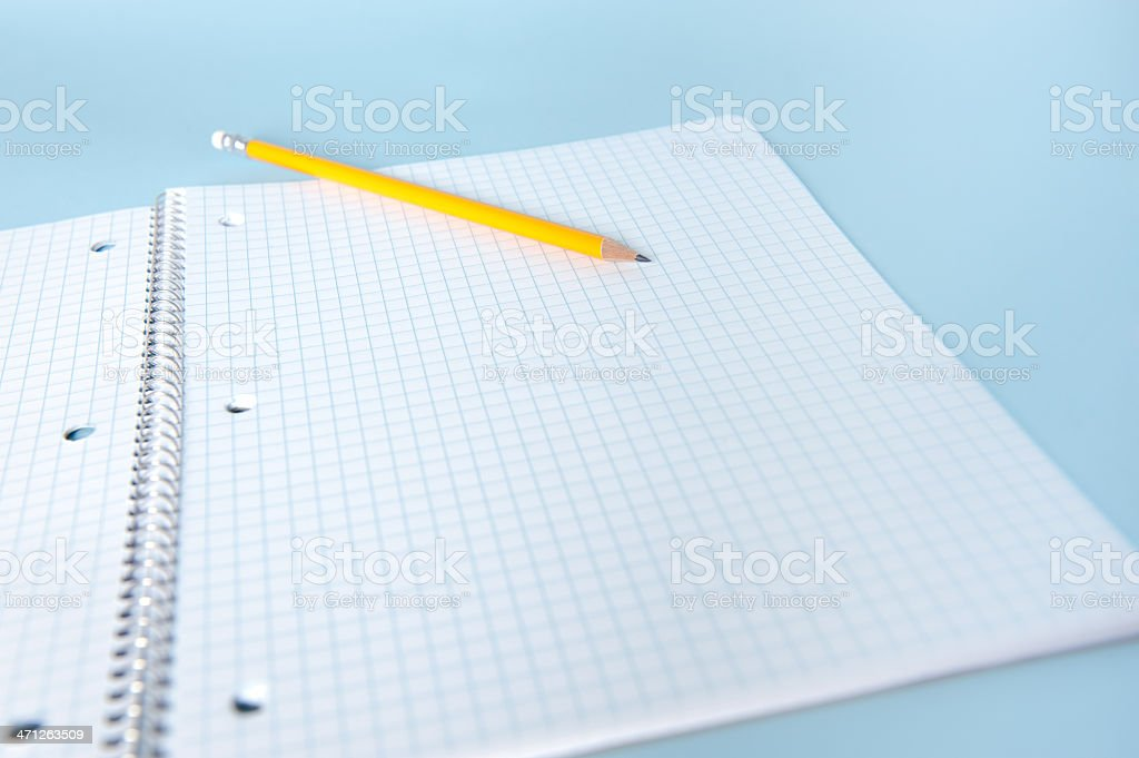 Spiral Graph Paper Notebook royalty-free stock photo