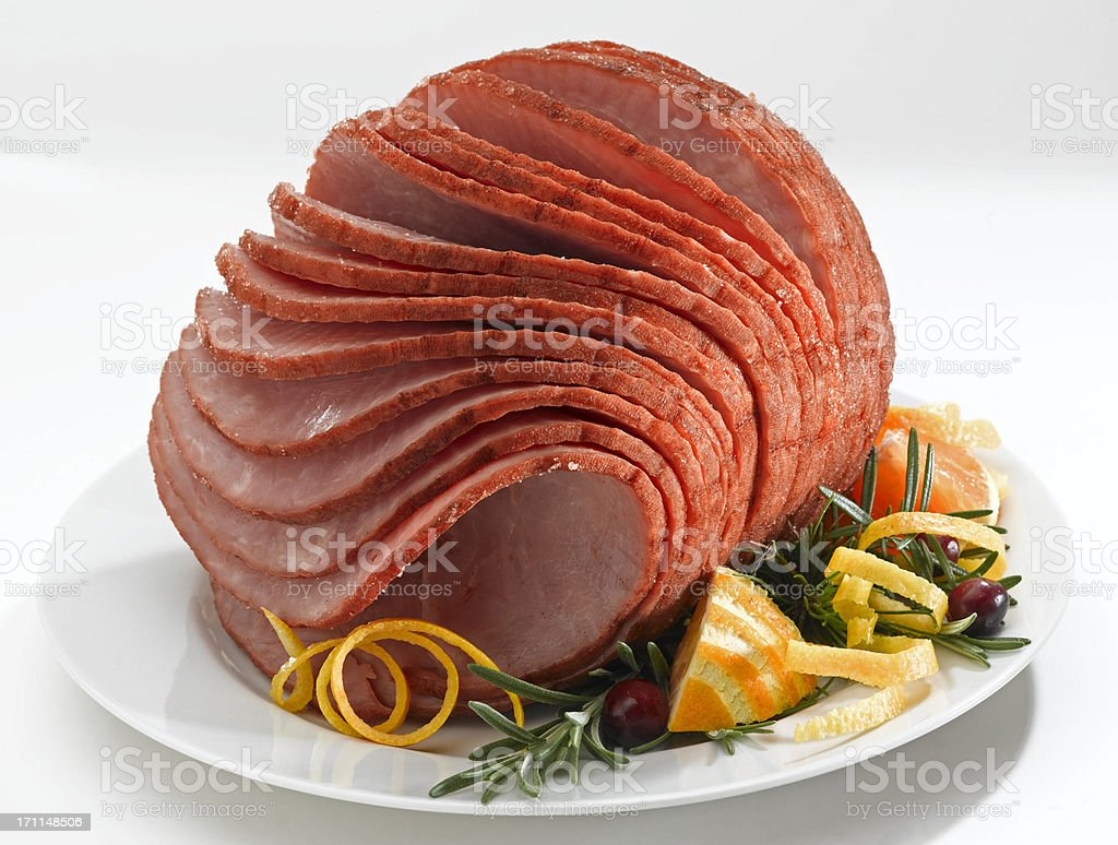 Spiral Ham stock photo