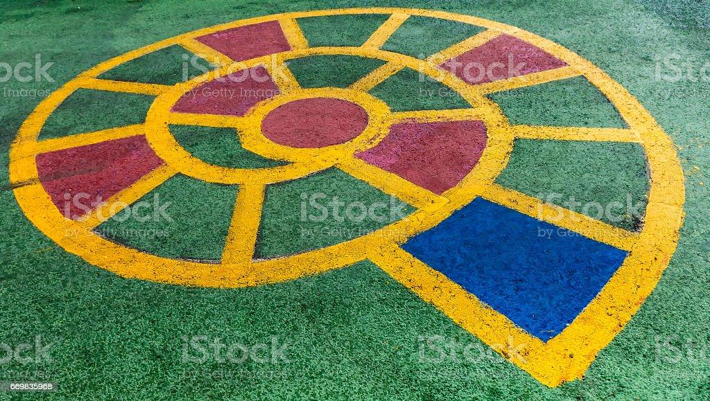 Spiral Hopscotch stock photo