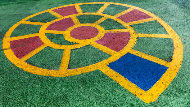 Spiral Hopscotch stock photo