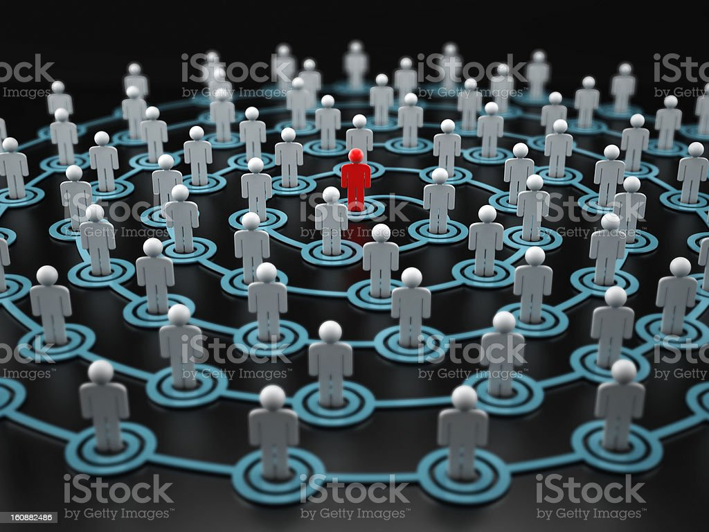 Spiral human network stock photo