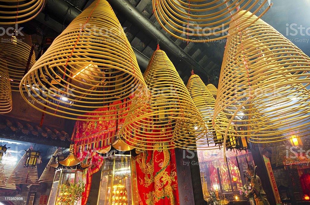 Spiral Incense - Hong Kong Temple royalty-free stock photo