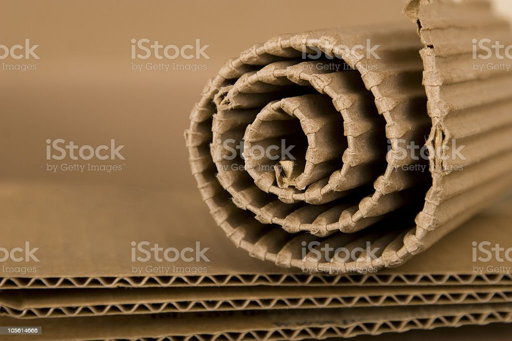 spiral made from cardboard royalty-free stock photo